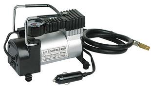 【厂家直销】 车载电动 汽车迷你充气泵 空压机 12V便携式打气筒;