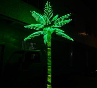 الصمام شجرة المناظر الطبيعية مصباح الصمام مصباح الديكور الاصطناعي شجرة جوز الهند مصباح ضوء شجرة