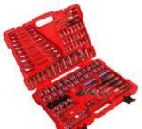 鵬工140件套 隨車家用汽修組合工具套件 鉻釩鋼亮鉻 機修補胎工具;