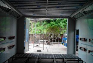 대형 자동차 래커 방 자동차 무늬를 구워 넣는 도장 설비 신축 이동 래커 방 방