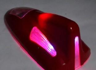 汽车太阳能LED灯.车顶灯 带防追尾警示灯 汽车鲨鱼天线 爆闪灯;
