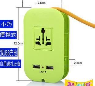 USB转换排插 拖线板厂家直销 带USB口便携式迷你插座,应急充电器;