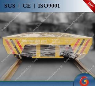 运输搬运设备介绍渣包转运电动平板车优势+厂区过跨用轨道平车;