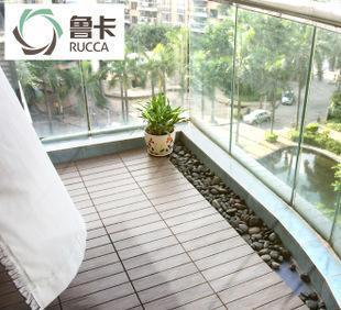 鲁卡生态木户外地板阳台木地板diy 花园地板塑木露台地板防腐木板